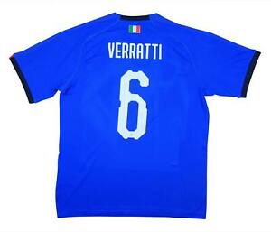 Italy 2019-20 Authentic Home Shirt Verratti #6 (BNWT) L Soccer Jersey