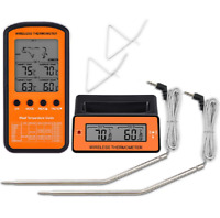 BBQ Wireless Digital Cooking Meat Thermometer Dual Probe LCD for Grilling Smoker