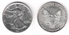 1991 USA Stati Uniti 1 Oncia OZ Argento Liberty Eagle Fior di Conio Unc