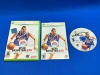 COMPLETE NCAA Basketball 09 (Microsoft Xbox 360, 2008) College w/ Case & Manual