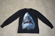 Givenchy Noir Dents Requin Homme Ras Du Cou Jumper Pullover Sweater Taille S S