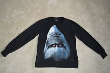 Givenchy negro dientes de tiburón para hombre cuello redondo Jumper Pullover Suéter Talla Pequeña S