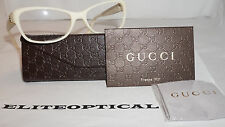 GUCCI RX Eyeglasses New Frame Ivory Ice Leather GG 3639 0YA 53 16 135 Italy
