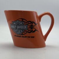 Harley Davidson Slanted Orange Coffee Mug 2007 Enjoy The Ride Cup Motorcycles
