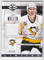 12-13 Limited Joe Mullen /99 Auto Jersey Materials Penguins 2012