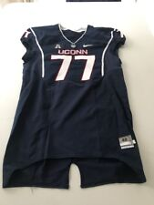 Game Worn Used Uconn H 00004000 uskies Connecticut Football Jersey Size 48 #77