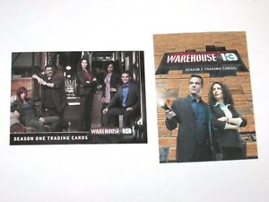 WAREHOUSE 13 SEASON 1 & 2 P1 PROMO CARD SET! SY-FY TV SHOW! RITTENHOUSE!!