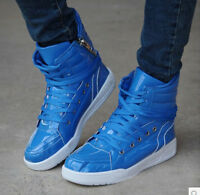 Mens High Top Lace Up Skateboarding Fashion Sneakers Casual Athletic Boots Shoes