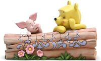 Disney Traditions Pooh & Piglet on Log 6005964 by Jim Shore