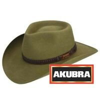 Genuine Akubra Snowy River Santone Hat - Made in Australia