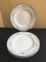 "SET OF 4 Noritake COVENT GARDEN 10-5/8"" Dinner Plates; EUC!"