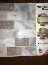 Peel And Stick Mosaics Sheets. 4 Sheets .Made In USA# 815851. Whispering Clouds