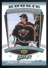 06/07 Upper Deck MVP Super Script Rookie #318 Niklas Backstrom #17/25
