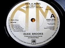 """ELKIE BROOKS - HE'S A REBEL  7"""" VINYL"""