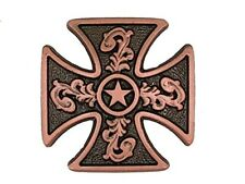 Western Decor Antiqued Copper Maltese Cross Concho