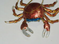 Kubla Cloisonne Articulated reddish color crab. Nice!
