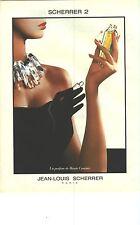PUBLICITE ADVERTISING   1988    JEAN LOUIS SCHERRER   parfum 2