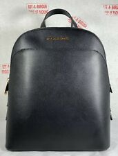 Michael Kors Emmy Smooth Leather Large Backpack in Black