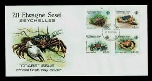 Seychelles: 1984, Zil Elwagne Sesel Crabs, First Day Cover
