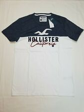 HOLLISTER Men's Must Have Collection T-Shirt Short Sleeve Tee Gray/White Small
