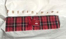 "POTTERY BARN ~ LANDON CHRISTMAS  PLAID TABLE RUNNER ~ 18"" X 108"""