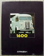 CITROEN 1600 VAN Sales Brochure 1970 DUTCH TEXT