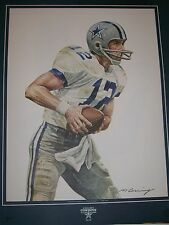 Roger Staubach 1984 Pizza Hut/ Dr. Pepper 16x20 Poster Unsigned