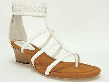 5bbe58cf61c Lauren Ralph Lauren Womens Meira White Wedges Sandals 6 Medium (b M) BHFO  4370