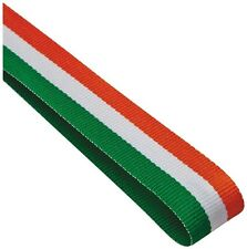 10x Red White And Green Medal ribbons / lanyards with Gold clip 22mm wide