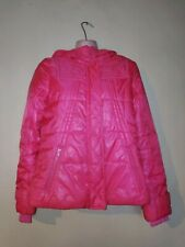 Womens Outdoor Glossy Quilted Winter Coat Padded Puffer Jacket Hooded UK8-16
