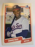 SAMMY SOSA 1990 Fleer Baseball #548 White Sox Chicago Cubs RC