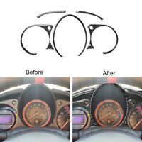 5Pcs Carbon Fiber Instrument Cluster Panel Cover Trim For 2009-2020 Nissan 370Z