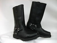 XTRM D823 CRUISER MOTORCYCLE LEATHER WARM CITY BOOTS BLACK