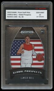 LAMELO BALL 20-21 PANINI PRIZM GLOBAL PROSPECT 1ST GRADED 10 ROOKIE CARD HORNETS