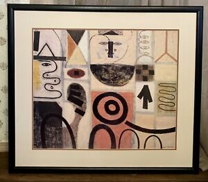 "Adolph Gottlieb Large Pictograph SEER Lithograph Print Framed 32"" x 36"""
