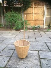 Vintage Childs Toy Wicker/wood Shopping Trolley On Wheels Late 60s/early 70's