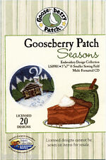 Dakota Collectibles LS0901 Gooseberry Patch Seasons Machine Embroidery Design CD