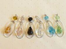 Charms y pulseras de charms de bisutería color principal plata cristal