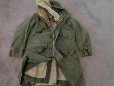 VTG US ARMY USAF USN COLD JACKET HOODIE PARKA SZ S MEN GREEN MILITARY 50S 60S