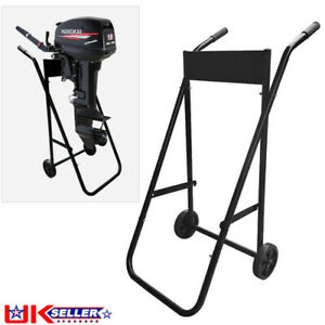High Quality Outboard Trolley Boat Motor Carrier Cart Engine Storage Stand UK