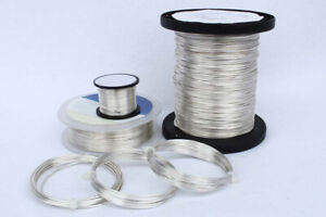 2-100Meter Copper Wire Silver Wire Craft Jewellery Silver-Plated Ø0.5-1.2mm