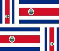 4 x Autocollant sticker voiture moto  drapeau costa rica costa