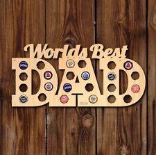 """Home Wet Bar """"Worlds Best Dad"""" Wooden Beer Cap Map Wall Decor #1 Best Seller"""