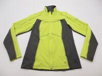 COLUMBIA TITANIUM Women Size S Stretch Knit Yellow/Gray Soft Shell Jacket