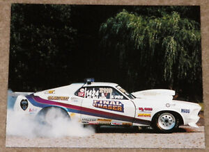 """RARE OFFICER MAXINE RIZZO """"FINAL CHASER"""" 69 MACH I MUSTANG DRAG RACING HANDOUT!!"""