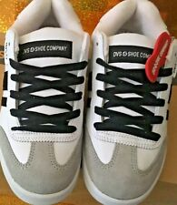 DVS skate shoes white/black, size 6 men,m,7.5 women