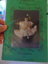 "Pattern for 28"" doll CONNIE LEE FINCHUM dress & underwear MARYANNE"
