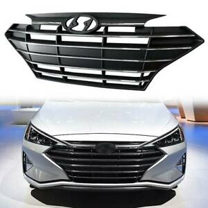 Front Upper Bumper Grille Chrome Trim Grill ABS for 2019 2020 Hyundai Elantra US