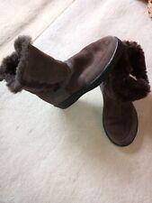 Brown Size 6 (39) Canterbury Sheepskin flat Boots