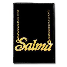 Chapado En Oro Con Collar de nombre-Salma-Ideas de regalo para ella-Joyería Personalizado